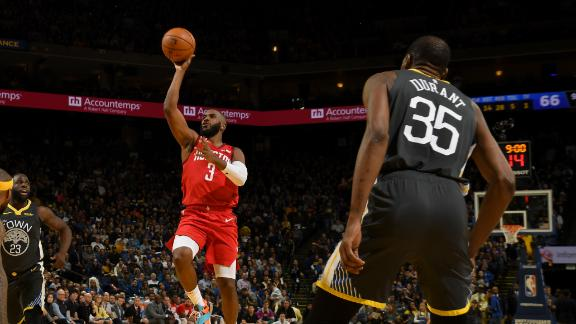 CP3 leads Rockets past Warriors without Harden