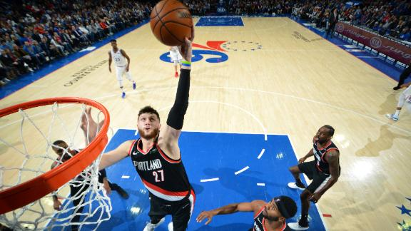 Nurkic, Blazers give 76ers worst home loss of the season
