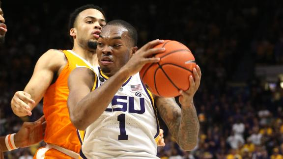 LSU squeaks by Tennessee for wild OT win