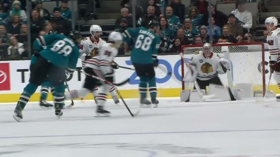 Melker Karlsson redirects Burns' shot