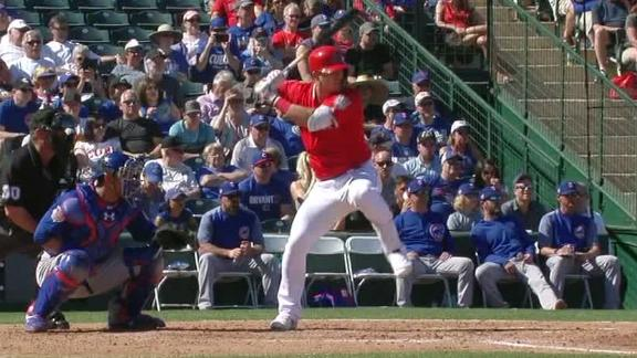 Trout crushes three-run HR on first pitch he sees