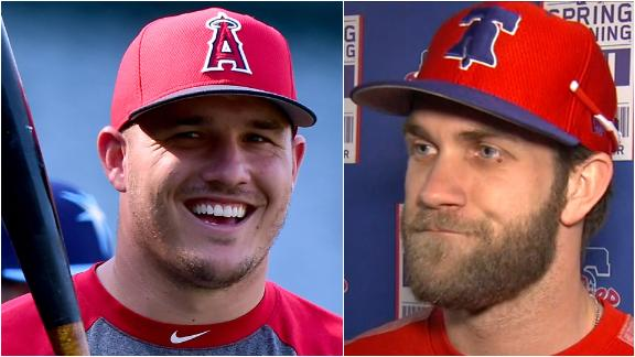 Harper meant what he said about recruiting Trout