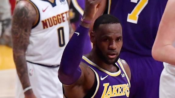 LeBron surpasses MJ in points, Lakers fall to Nuggets