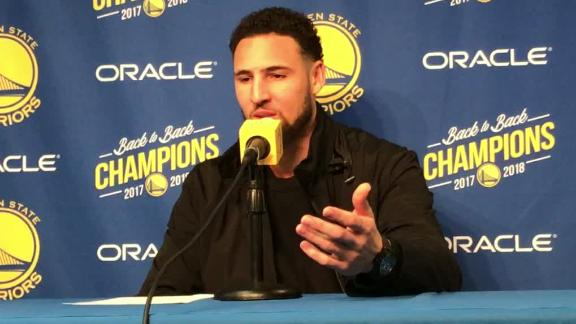 Klay expects Warriors crowd  to be more into it  Watch 59905eab2