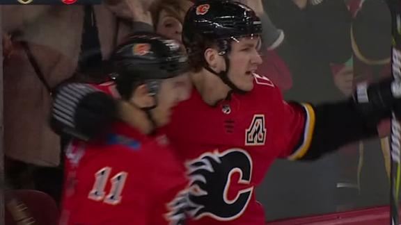 ... for his first NHL hat trick and added an assist to lead the Calgary  Flames to a 6-3 victory over Vegas on Sunday night that snapped the Golden  Knights  ... db03f0e74