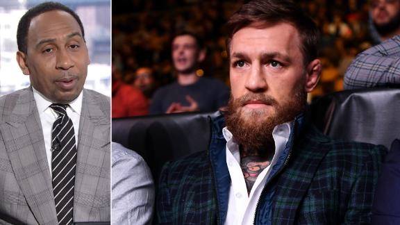 Stephen A.: McGregor can't take and destroy someone's phone