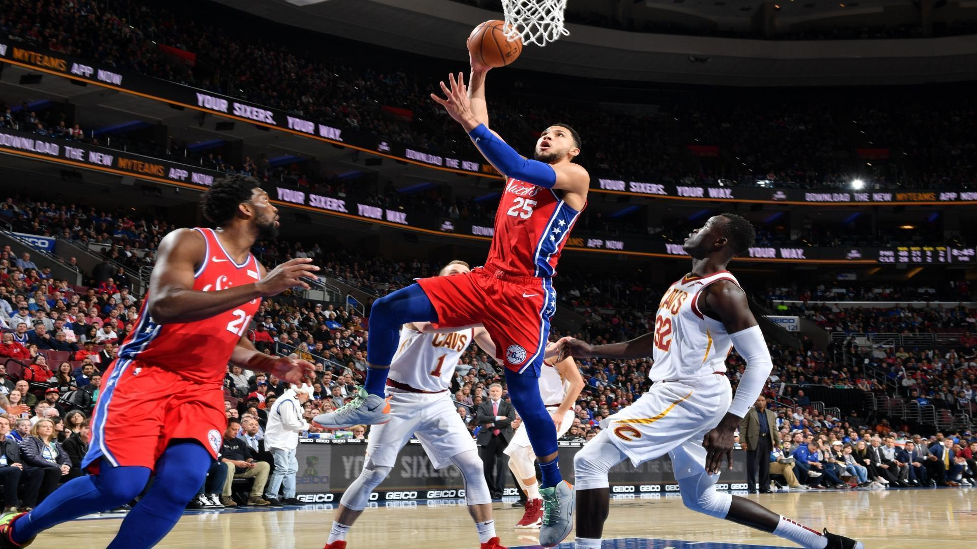 Simmons' 26 points leads 76ers to win over Cavs