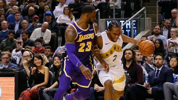 LeBron, Kawhi battle it out in Toronto