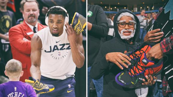 NBA stars' sneaker giveaway trend