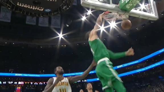 Tatum throws down jam in transition