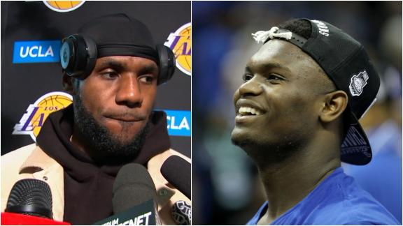 LeBron has 'a lot of advice' for Zion