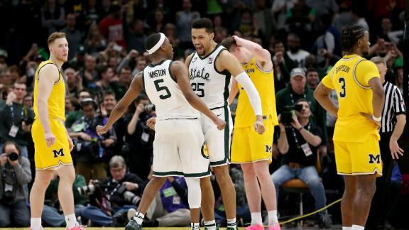 Michigan State comes back and takes the Big Ten title
