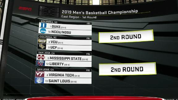 Duke gets No. 1 overall seed