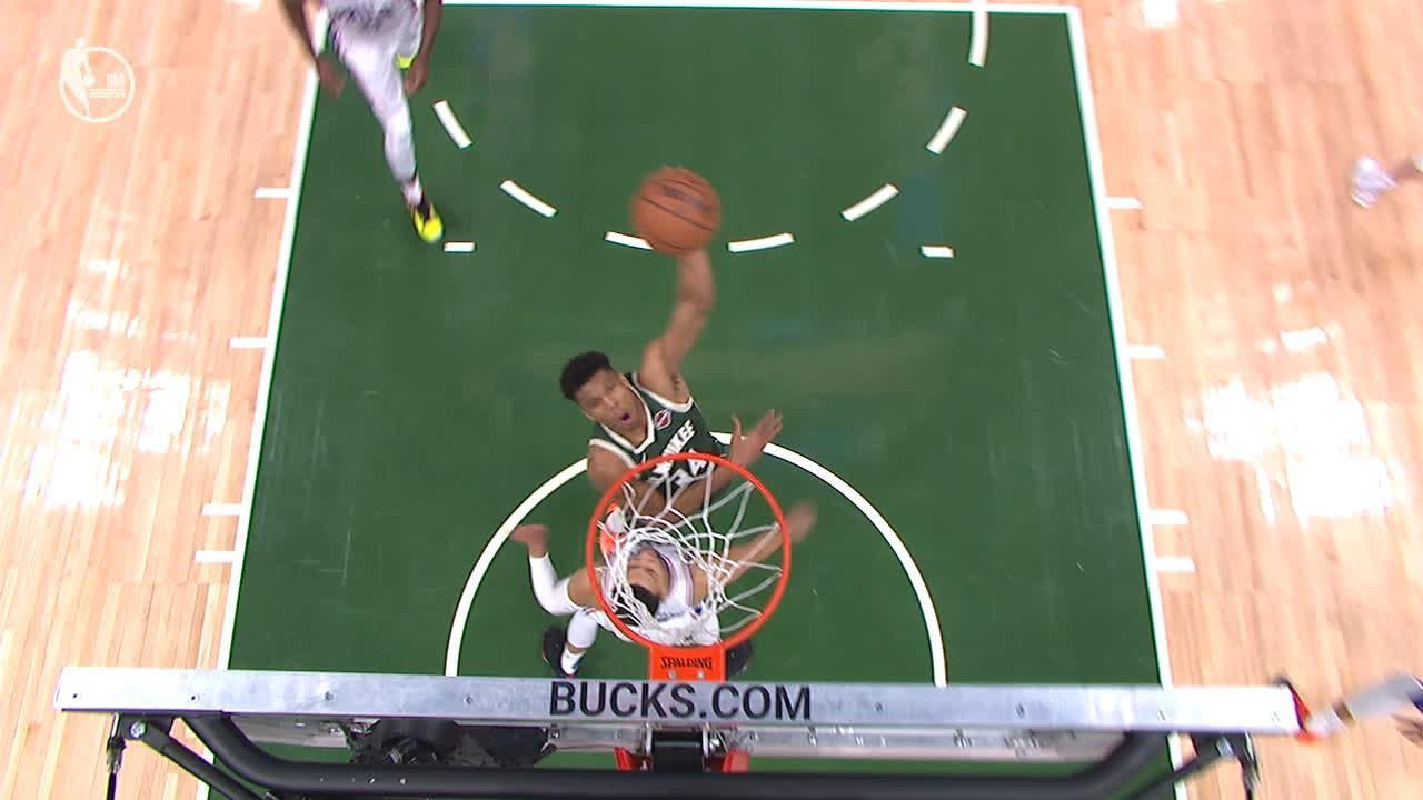 Giannis and Simmons trade poster dunks on each other
