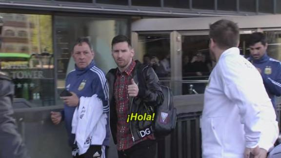 Messi ya está con la Selección Argentina en Madrid