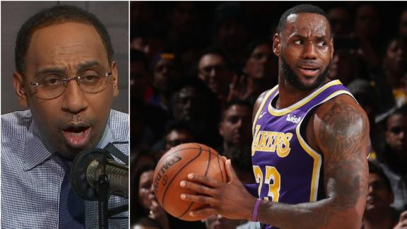 Stephen A. wants to know why LeBron was playing vs. Knicks