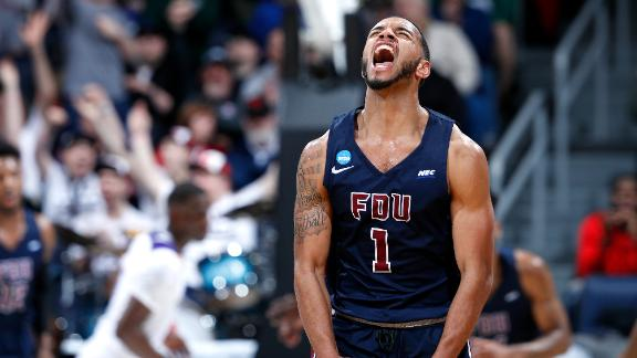 Edge drains 7 3-pointers to lead FDU to a First Four win