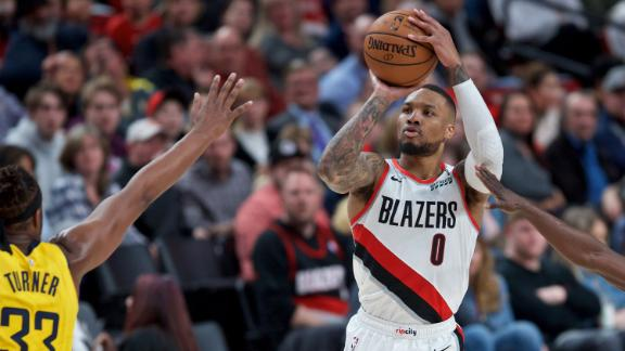 Lillard's double-double lifts Blazers past Pacers