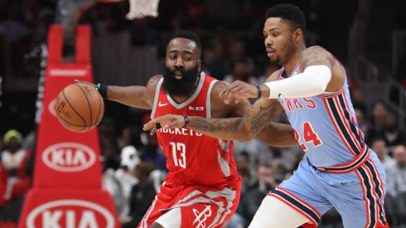 Harden goes for 31 in Rockets' win over Hawks
