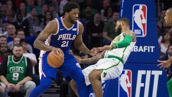 Embiid, 76ers fend off Irving, Celtics in thriller