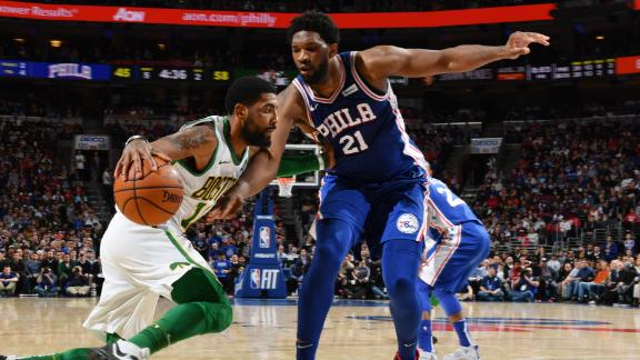 Kyrie off to hot start in 1st half