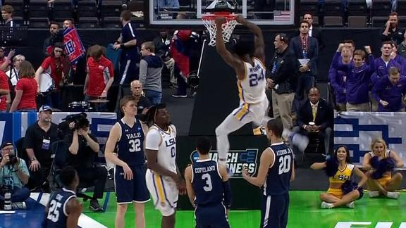 Williams smashes dunk from Waters in LSU win