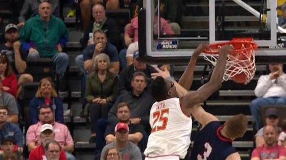Maryland's Smith obliterates Windler on and-1 poster slam