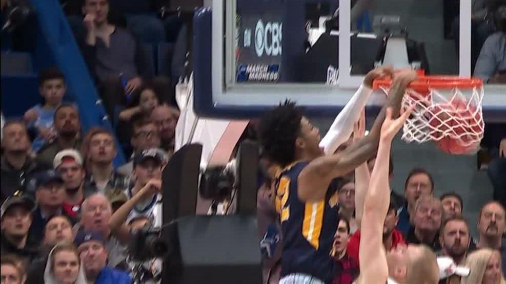 Morant's sick step-back, poster dunk lead Murray State to win