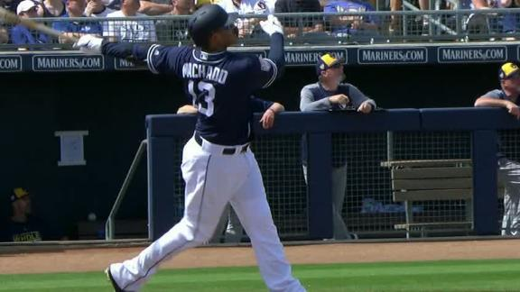 Machado blasts 1st home run as Padre