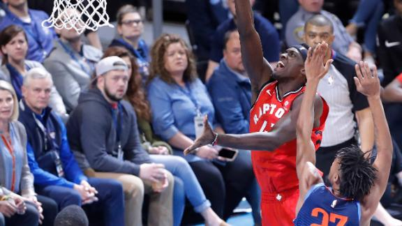 Raptors prevail after Thunder comeback forces OT