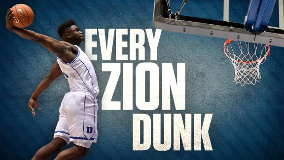 62 dunks in 28 games: Every Zion dunk from his season at Duke