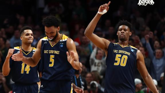 No. 13 seed UC Irvine stuns K-State for 1st ever tourney win