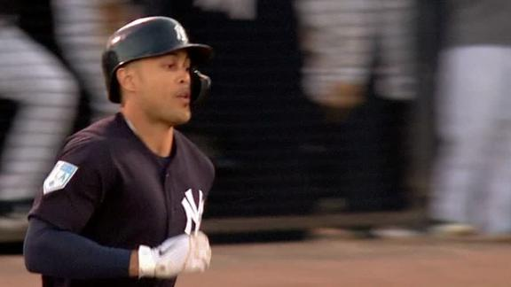 Stanton launches 2 home runs