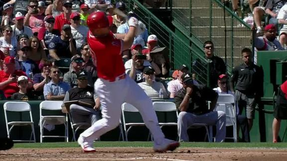 Trout lines HR over left-field wall