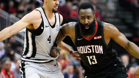 Harden's 61 matches career high in Rockets' win