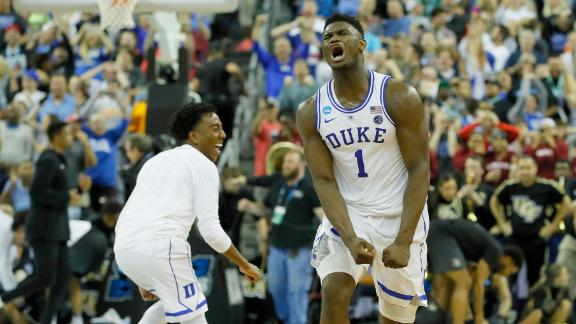 Duke escapes UCF in wild ending to advance