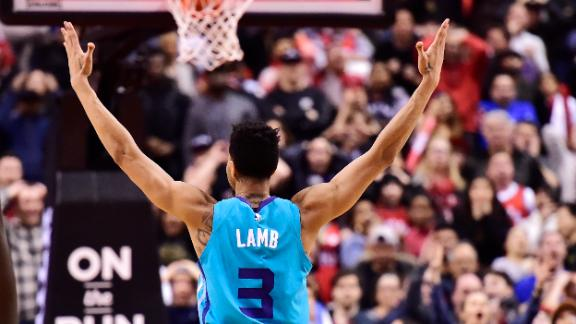 Lamb hits half-court buzzer beater to seal Hornets' comeback win