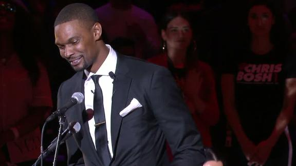 Bosh jokes with D-Wade: 'I had to beat you at something'
