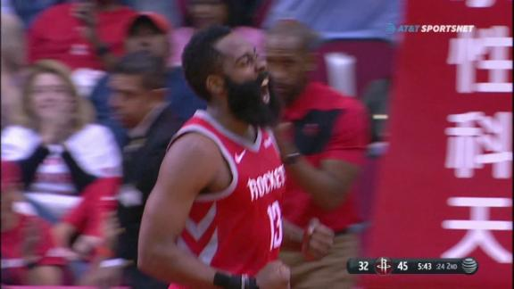 Harden scores 38, moves up scoring list