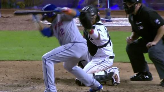 Lagares gets controversial hit-by-pitch call