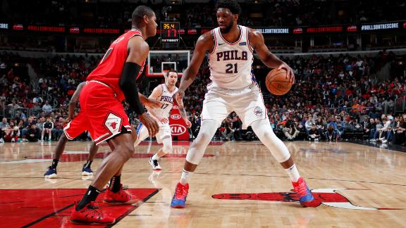 Embiid's doube-double too much for Bulls