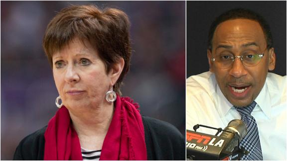 Stephen A.: Muffet McGraw's message is 'right on the money'