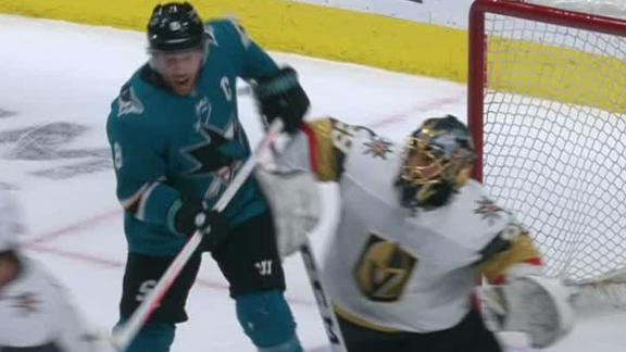 Pavelski takes puck off his chin for goal in Sharks' win