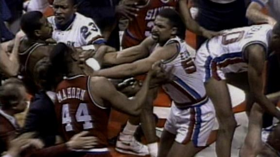 On this date: Pistons, 76ers game breaks out into brawl
