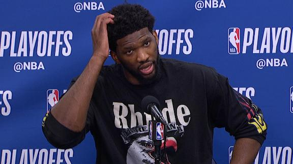 Embiid says Johnson 'was checking on his daughter'
