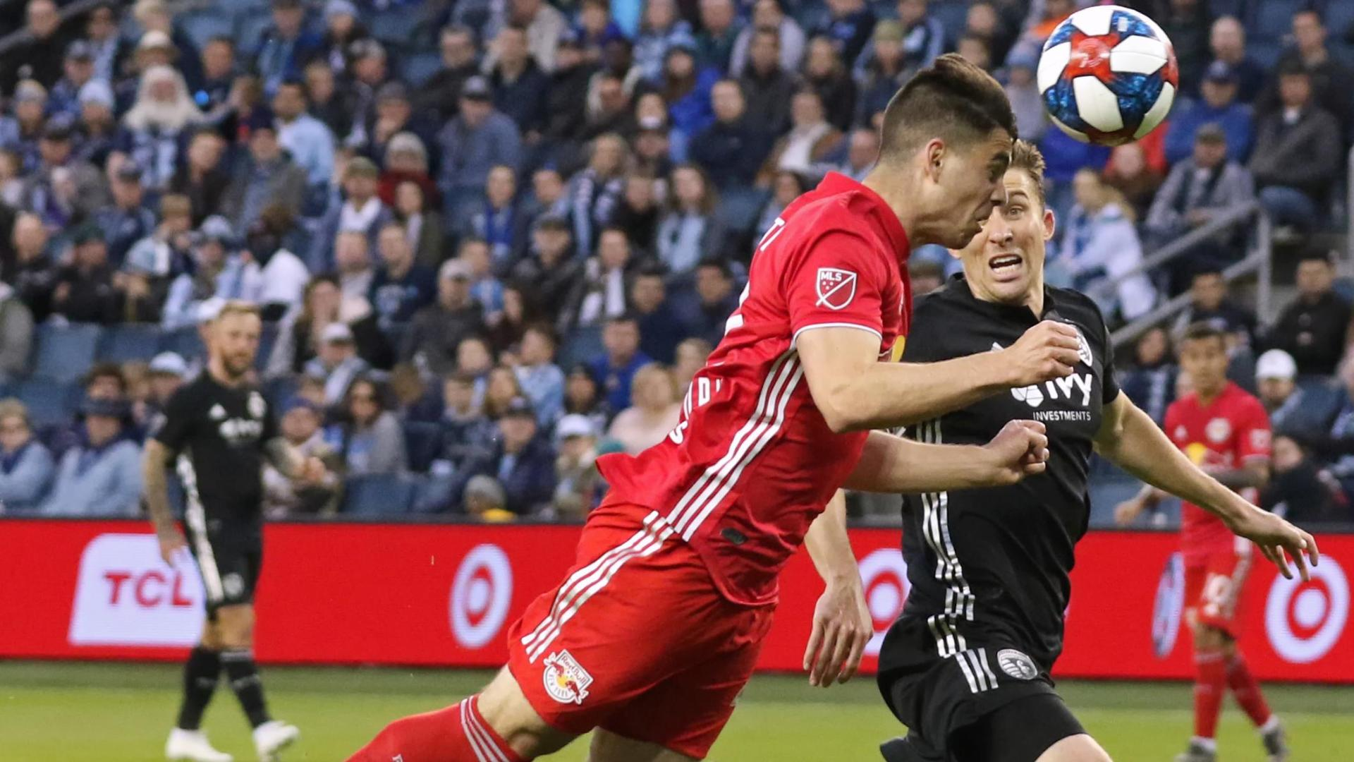 White's diving header puts the Red Bulls in front
