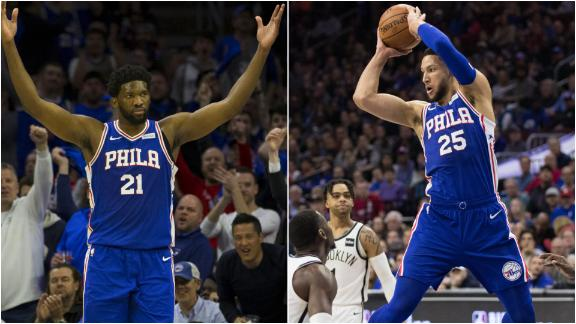 Simmons, Embiid ignite 76ers to Game 2 win