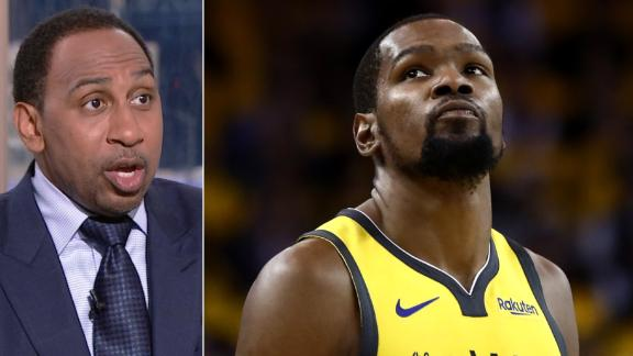 Stephen A. worried about KD after being shut down by Beverley