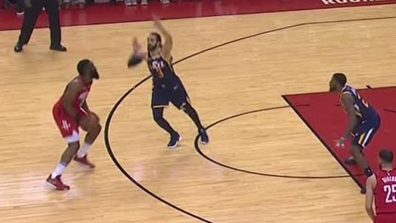 Harden's shimmy, dance moves on Rubio relentless