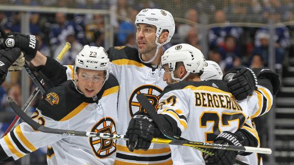 Bruins survive third-period scare from Leafs